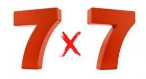 7 fois 7