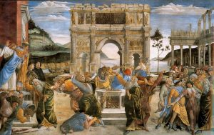 Botticcelli,_Sandro_-_The_Punishment_of_Korah_and_the_Stoning_of_Moses_and_Aaron_-_1481-82