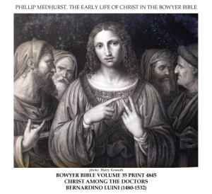 Early_life_of_Christ_in_the_Bowyer_Bible_print_13_of_21._boy_Jesus_among_the_doctors_in_the_Temple._Luini
