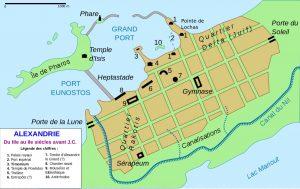 Alexandrie ancienne carte
