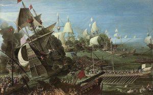 Andries_van_Eertvelt_(circle)_-_The_Battle_of_Lepanto_(1622)