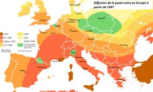Diffusion_de_la_peste_noire_en_europe_1347-1351 retravaillee
