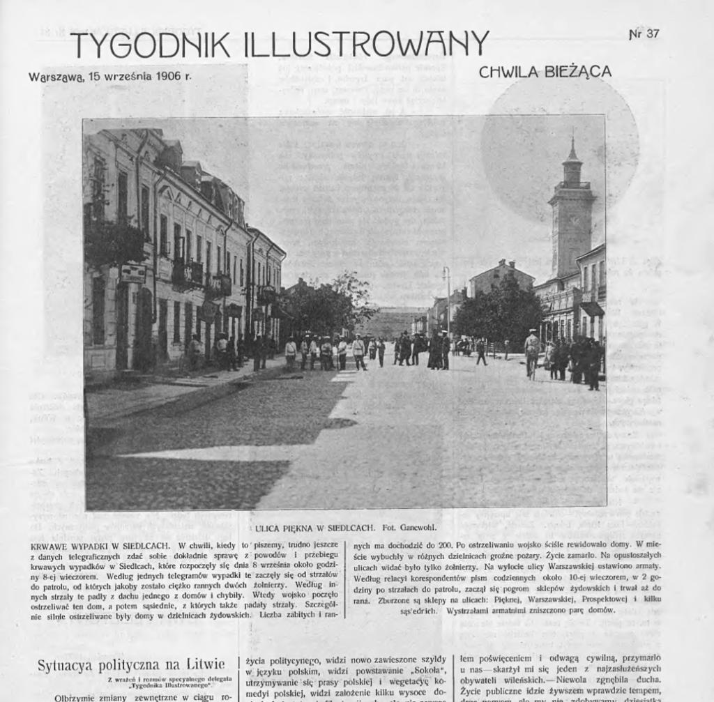 L'attribut alt de cette image est vide, son nom de fichier est Tygodnik_ilustrowany_nr_37-1906_-_15.09.1906_Siedlce_pogrom.png.